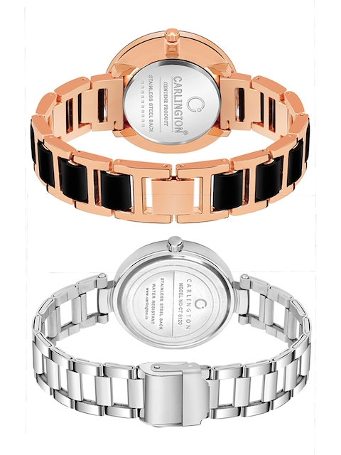 CARLINGTON Women Multicoloured Embellished Dial & Multicoloured Stainless Steel Bracelet Style Straps Watch 4
