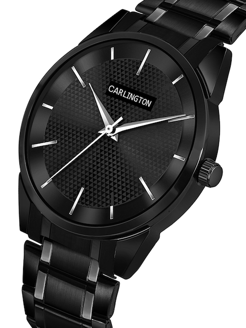 CARLINGTON Unisex Set of 2 Stainless Steel Straps Analogue Watches 2