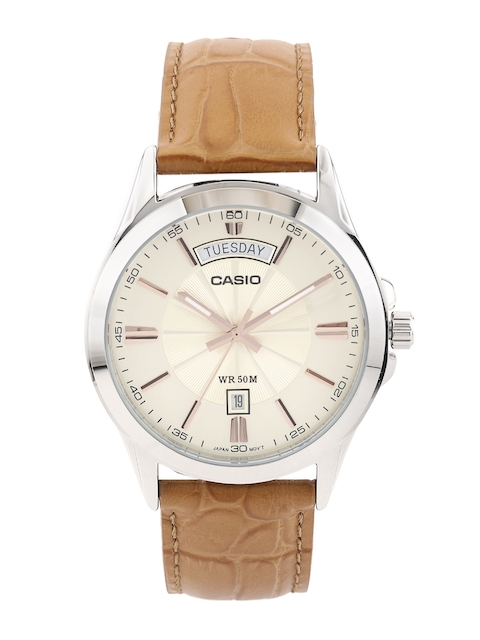 CASIO Edifice Men Cream-Coloured Dial Watch A1133
