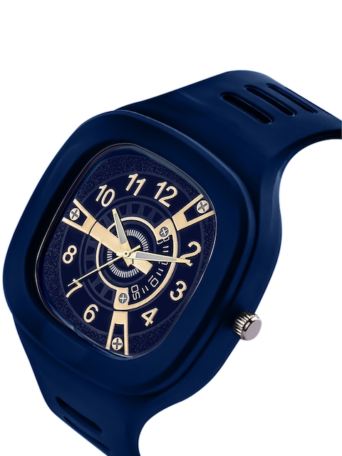 SWADESI STUFF Unisex Blue Printed Dial & Straps Analogue Watch SDS 133 BLUE 2