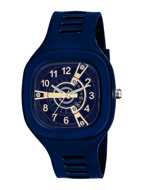 SWADESI STUFF Unisex Blue Printed Dial & Straps Analogue Watch SDS 133 BLUE 1