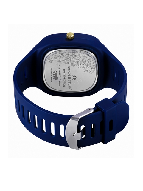 SWADESI STUFF Unisex Blue Printed Dial & Straps Analogue Watch SDS 133 BLUE 3