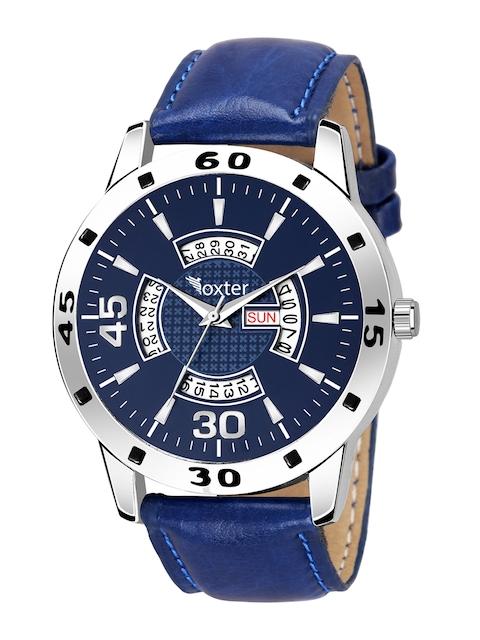 Foxter Men Blue Brass Dial & Blue Leather Straps Analogue Watch FX-435 1