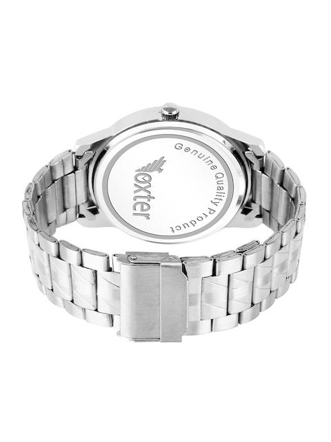 Foxter Men Blue Brass Dial & Silver Toned Bracelet Style Straps Analogue Watch FX-439 3