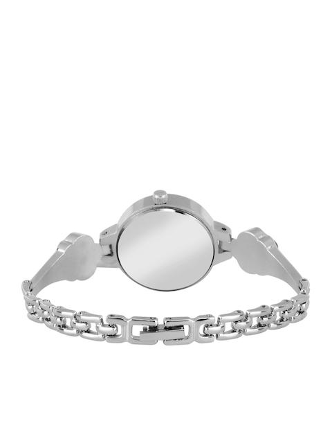 Foxter Women Silver Brass Dial & Silver Toned Straps Analogue Watch FX-329 3