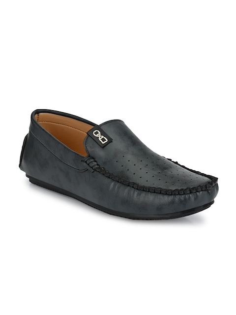 Provogue Men Blue Perforations Loafers 2