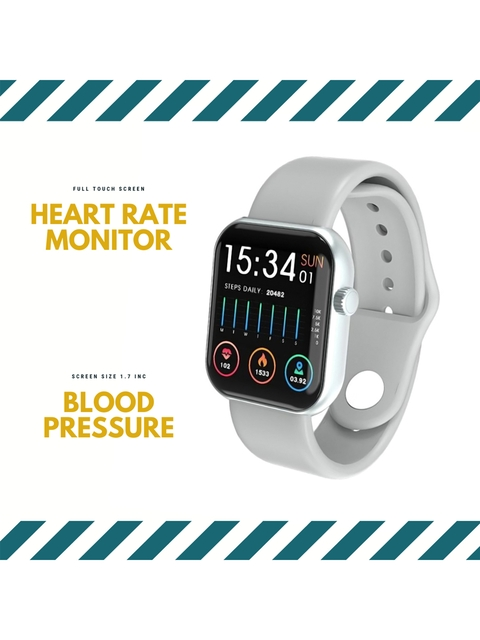OPTA Unisex Grey & Black Solid Bluetooth Fitness Smart Watch SB-244 6