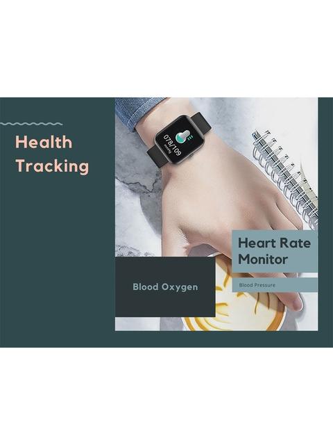 OPTA Unisex Grey & Black Solid Bluetooth Fitness Smart Watch SB-244 3