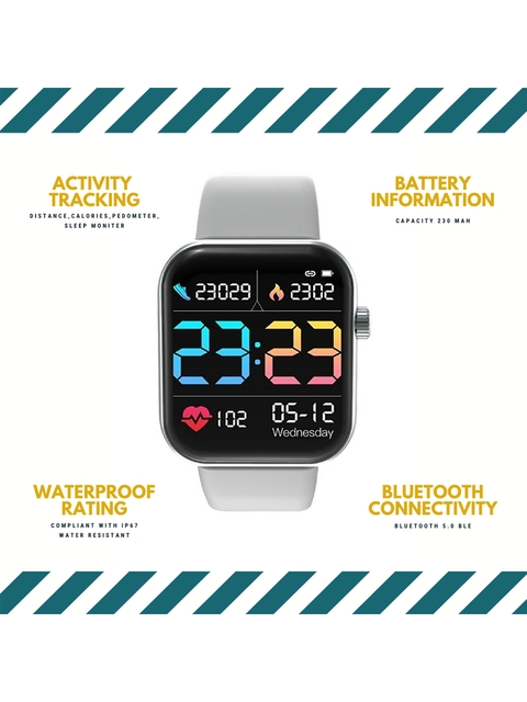 OPTA Unisex Grey & Black Solid Bluetooth Fitness Smart Watch SB-244 4