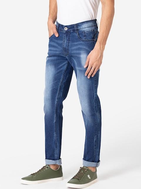Allen Cooper Men Navy Blue Slim Fit Heavy Fade Jeans 1