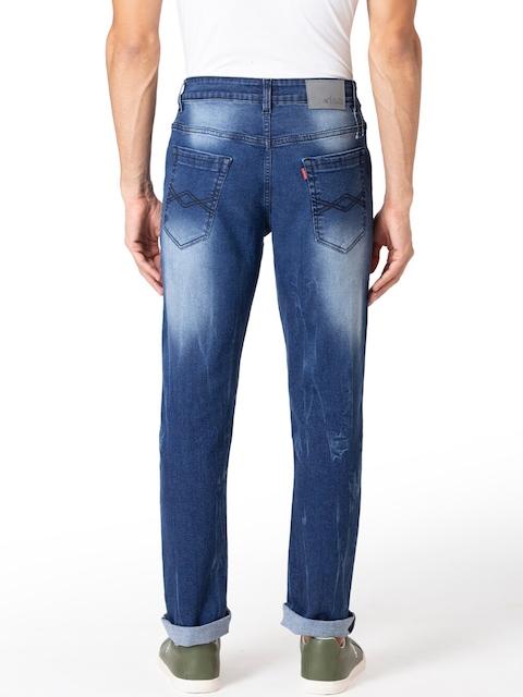 Allen Cooper Men Navy Blue Slim Fit Heavy Fade Jeans 3