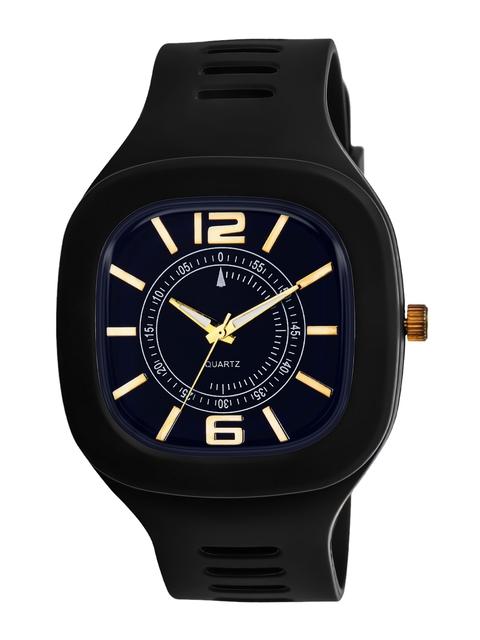SWADESI STUFF Unisex Black Dial & Black Straps Analogue Watch ARROW BLACK 1