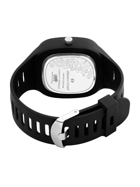 SWADESI STUFF Unisex Black Dial & Black Straps Analogue Watch ARROW BLACK 3