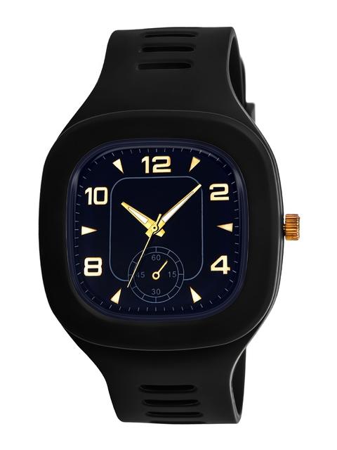SWADESI STUFF Unisex Black Dial & Black Straps Analogue Watch 6 CRONO BLACK 1