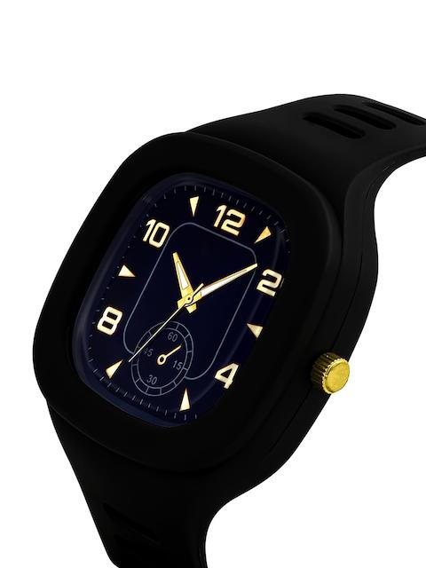 SWADESI STUFF Unisex Black Dial & Black Straps Analogue Watch 6 CRONO BLACK 2
