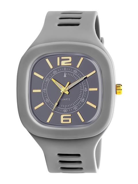SWADESI STUFF Unisex Grey Dial & Grey Straps Analogue Watch ARROW GREY 1