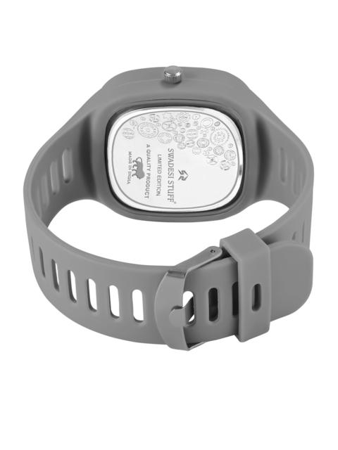 SWADESI STUFF Unisex Grey Dial & Grey Straps Analogue Watch ARROW GREY 3