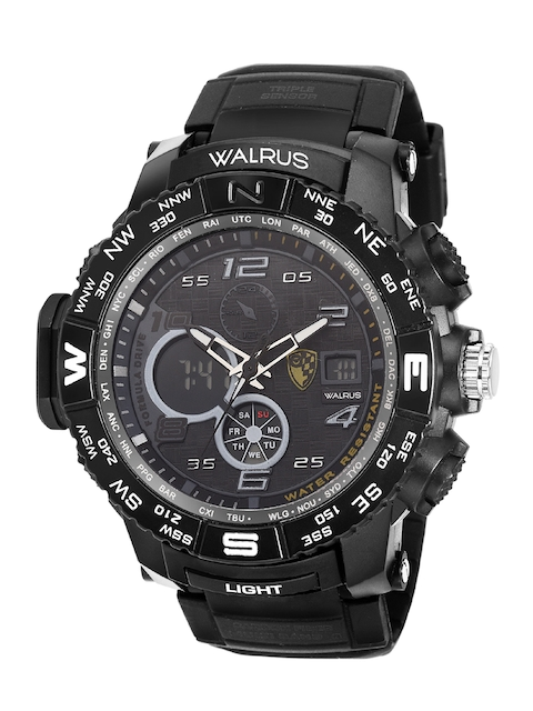 Walrus Men Black Brass Dial & Black Straps Analogue and Digital Watch WWTM-DIGI-III-0202 1