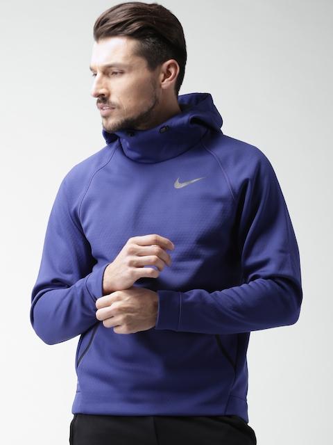 Nike Blue Hooded THRMA SPHR Hoodie Sweatshirt Price In India