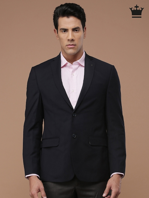 Louis Philippe Navy Ultra Fit Single-Breasted Blazer