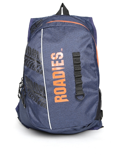Roadies by THe VerTicaL Unisex Navy Printed Laptop Backpack Image 2a1a18c421da1