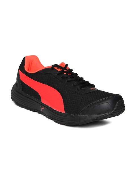 Puma Men Black & Red Reef Fashion DP Running Shoes