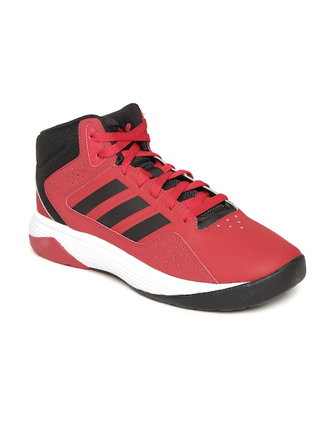 7568a9b472c Adidas NEO Men Red Cloudfoam Ilation Mid-Top Basketball Shoes for ...