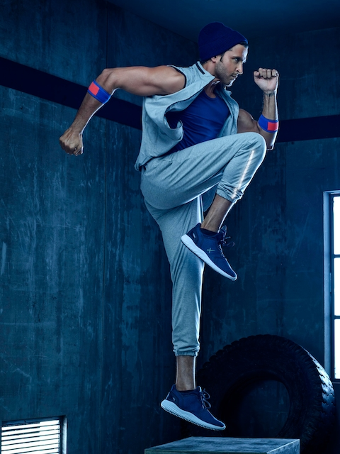 HRX by Hrithik Roshan Men Blue Textured Casual Shoes