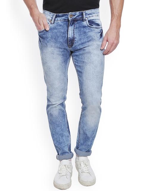 High Star Men Blue Slim Fit Mid-Rise Clean Look Jeans