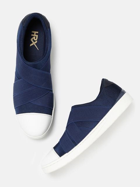HRX by Hrithik Roshan Men Navy Slip-On Sneakers