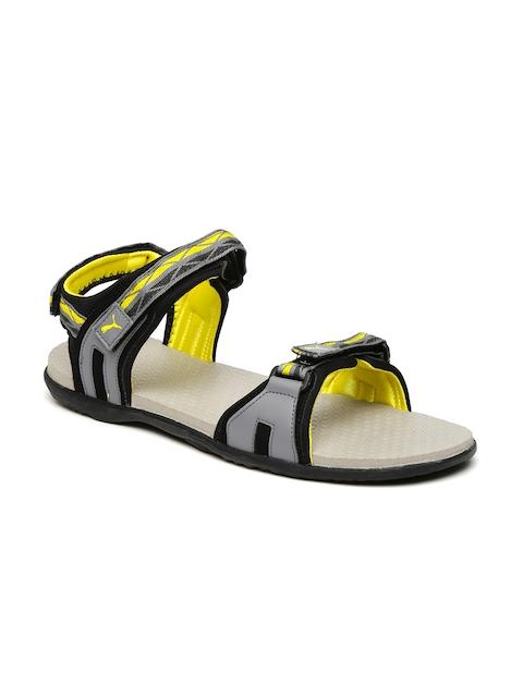puma sandals in myntra