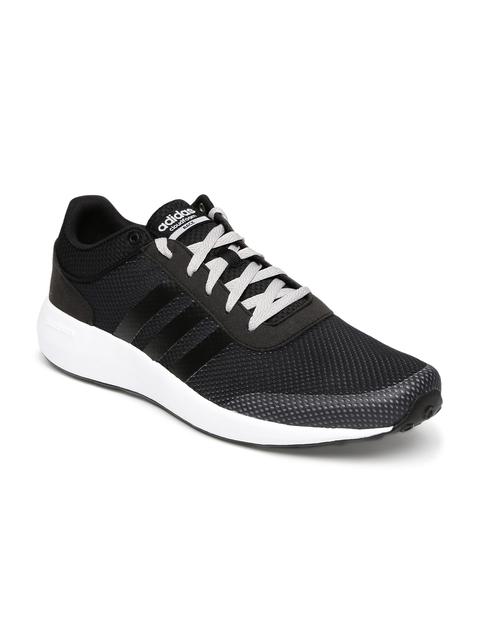 Adidas NEO Men Black Cloudfoam Race Sneakers