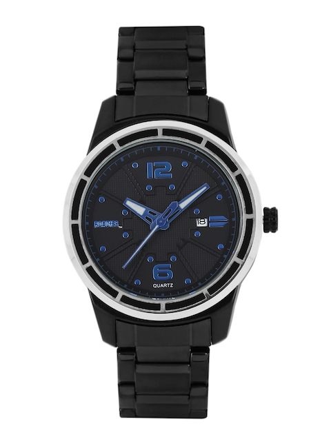 Roadies Men Charcoal Grey Textured Analogue Watch R7007BL