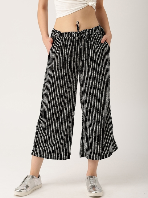 Black & White Striped Palazzo Pants : The Comfort Story