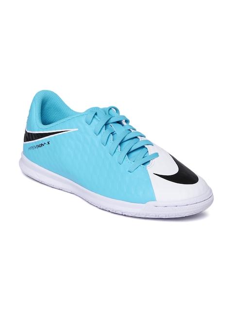 Nike Men White & Blue HYPERVENOMX PHADE III Football Shoes