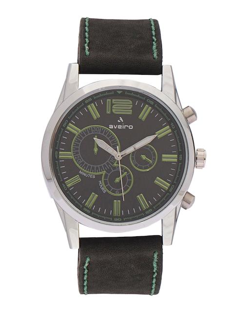 Aveiro Men Black Dial Watch AV238DMBGBLTR