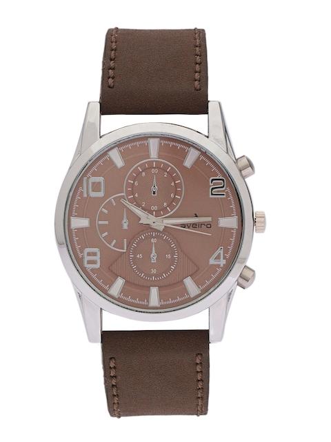 Aveiro Men Brown Dial Watch AV238DMBRBLTR