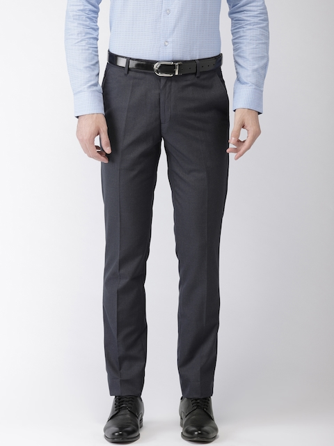 Black Coffee Navy Sharp Fit Formal Trousers