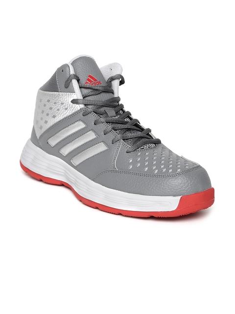 Adidas Men Grey Basecut Basketball Shoes