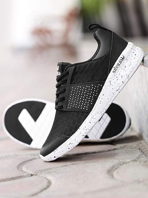 1e4dbfc525 Best Supra Casual Shoes Products (2019). Men Black Sneakers with Laser Cuts