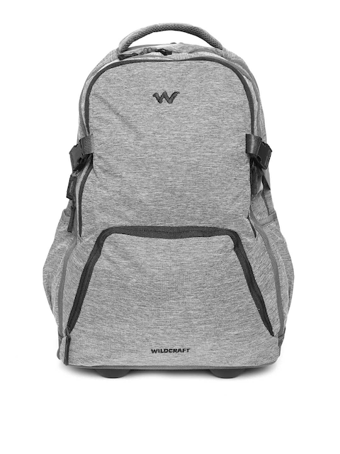 Wildcraft Unisex Grey Melange Voyager 20 Trolley Backpack