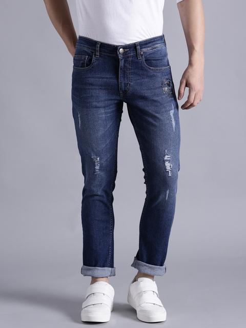 Kook N Keech Disney Men Blue Skinny Fit Mid-Rise Clean Look Stretchable Jeans