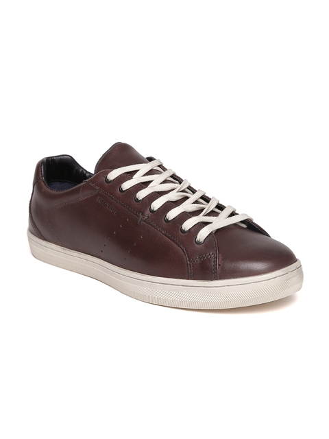 Red Tape Men Brown Leather Sneakers