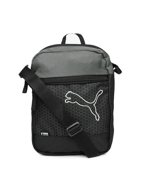 Puma Unisex Black   Grey Echo Portable Printed Messenger Bag 6fcfe107052a6