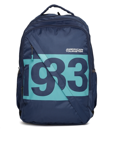 AMERICAN TOURISTER Unisex Blue AMT BOOM Graphic Backpack