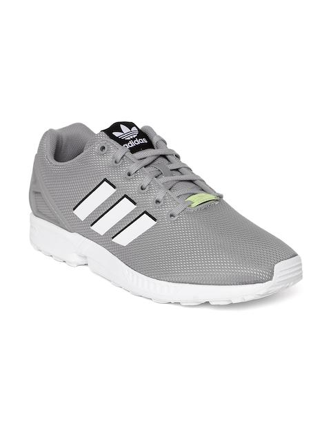 ADIDAS Originals Men Grey ZX FLUX Sneakers