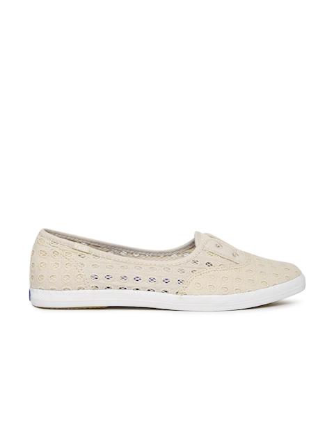 3c9fce7784 Keds Women Beige CHILLAX MINI EYELET MESH Slip-On Sneakers