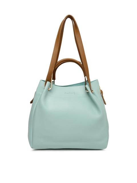 DressBerry Blue Solid Shoulder Bag