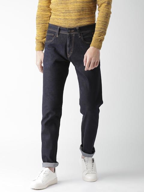 Harvard Men Blue Slim Fit Mid-Rise Clean Look Stretchable Jeans