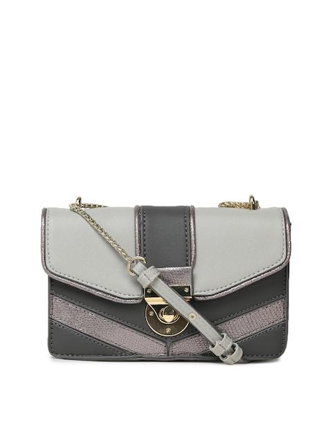 Accessorize Grey Colourblocked Sling Bag